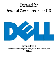 Analyze an Economic Variable for Dell Computers