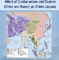 China Taoism and Confucianism and Japan Shintoism