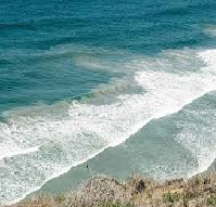 Turbulent Water Currents on Beaches in California