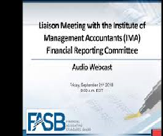 FASB Financial Reporting for Tier 1 Research