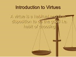 Response paper Habits and Virtues