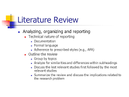 Problem Documentation and Literature Review