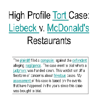 Legislation Liebeck vs McDonalds Case