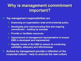 Importance of top management commitment