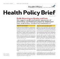 Policy Brief Public Health Issue Brief Summary