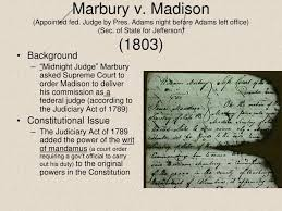 US Constitution and Marbury v Madison