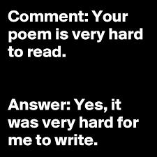 A very hard poem