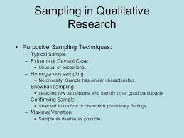 Participant Selection for Qualitative Research