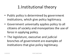 Public Institution Theory