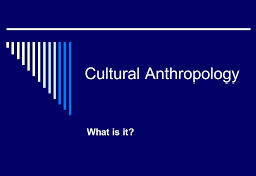 Anthropology Comparative Studies in Cultures