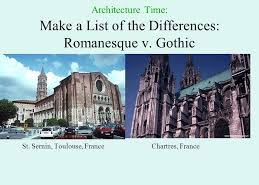 Compare Basilica of Saint Sernin and Chartres Cathedral