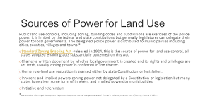Land Use and the Constitutions