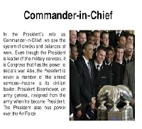 Presidents Role as Commander in Chief