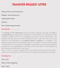 Application for transfer