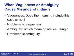 Critical Thinking problematic vagueness and ambiguity