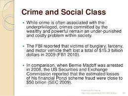 Deviance and Crime/ Class Stratification