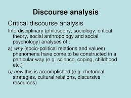 Rhetorical and Social Discourse Analysis
