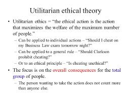 Utilitarianism essay