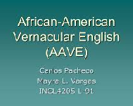 African American Vernacular English as a Separate Language