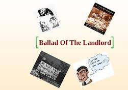 Ballad of the Landlord Harlem and I Too
