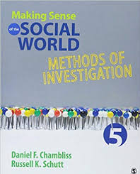 Chambliss and Schutt Making Sense of the Social World
