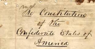 Constitution of the Confederate States 1861 Civil War