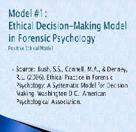 Ethics Decision Making in Psychology Essay Paper