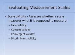 Evaluating a Measurement Scale Research Paper