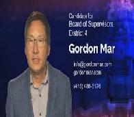 Gordon Mar Board of Supervisor at District 4