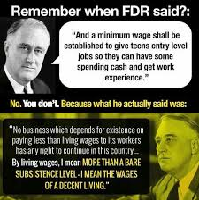 History regarding the Minimum Wage and Living Wage