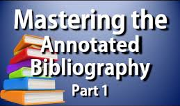 Statistics Annotated Bibliography Showing Sources