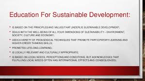 Educating for Sustainable Development