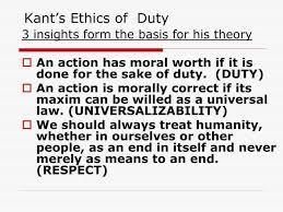 Kant`s Ethics