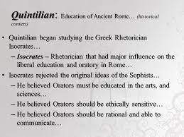 Quintilian Summary
